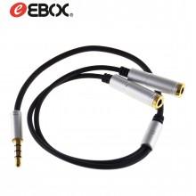 Cable Jack Macho/Hembra Doble Salida Estéreo 35 cm EAX8307