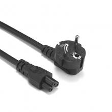 Cable de alimentación IEC-60320 20cm C5 a schuko macho EPC8003