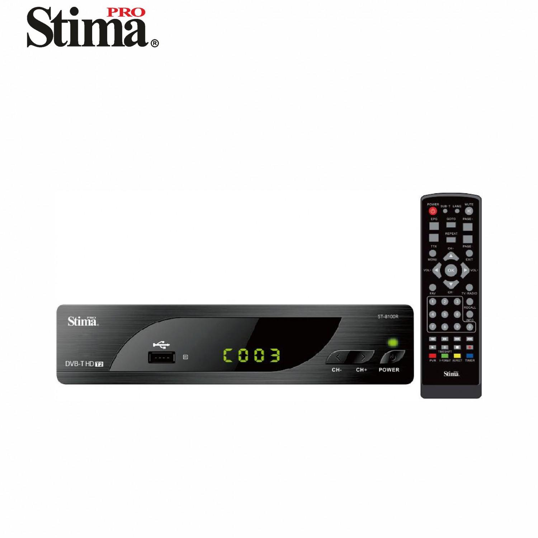 Sintonizador DVB-T2 HD 1080p con Grabación USB ST8100R