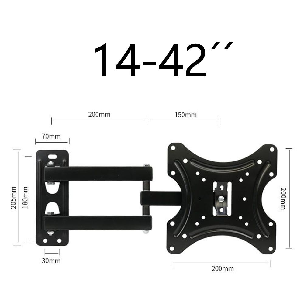 Soporte TV de Pared Articulado Inclinable y Giratorio para Pantallas de 14-42 Pulgadas, hasta 35 kg  CP302S