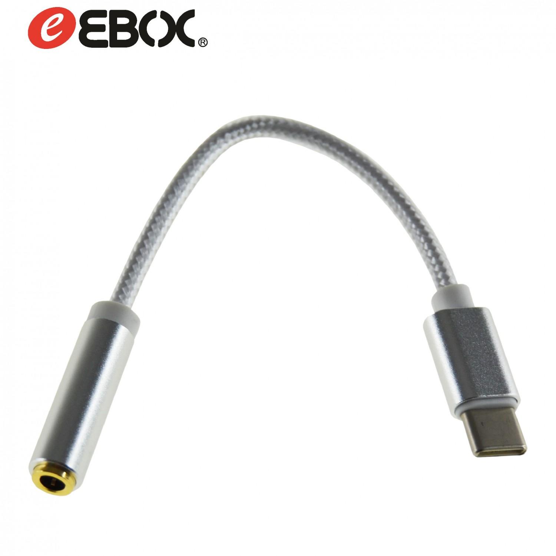 Cable USB TIPO-C/Jack Hembra Estéreo 14 cm Nylon ETC8304