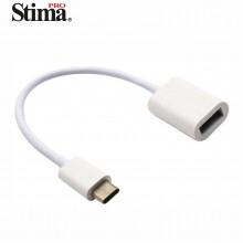Cable USB TIPO-C OTG a USB Hembra v3.0 de 20 cm SAT7008