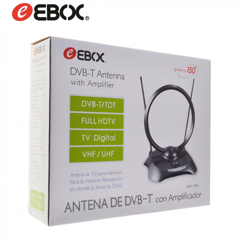 Antena DVB-T Interior Activa 38dB con Amplificador EAN3964