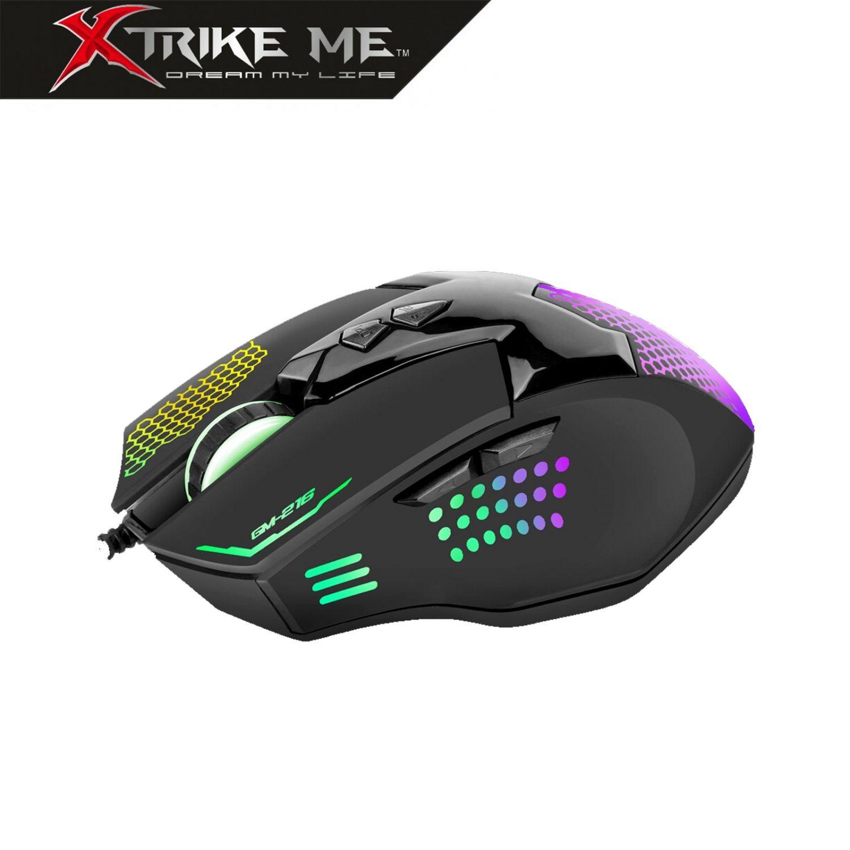Ratón Gaming con cable USB GM216  Retroiluminado 3600 DPI 7 Botones