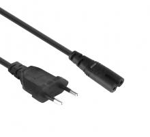 Cable de alimentación de la UE Figura 8 C7 a Euro EU Europeo 2 Pines AC Plug EPC8001