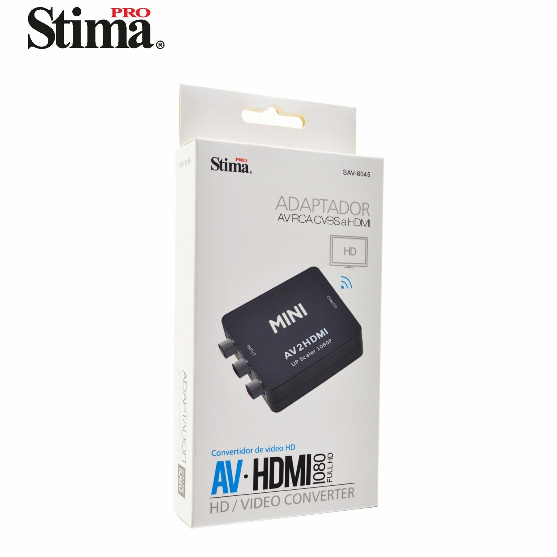 Conversor AV RCA CVBS a HDMI Hembra v1.3 SAV8045