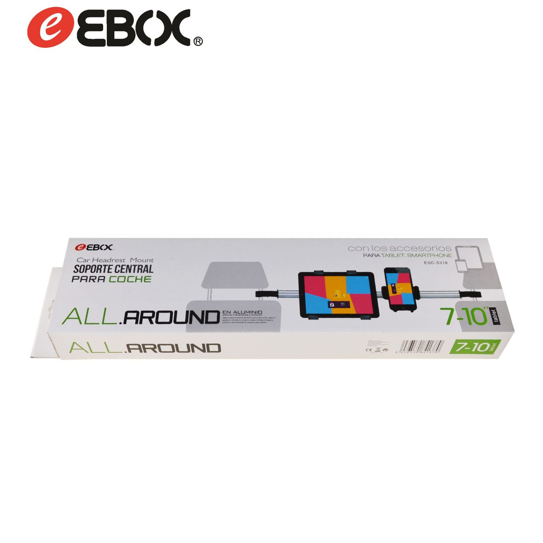 Soporte de Coche Reposacabezas 2en1 Tablet/Smartphone ESC5318